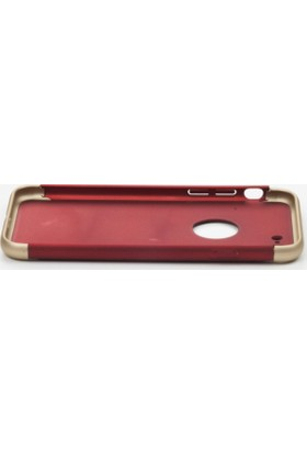 My Monkey IPH6-22RG / iPhone 6 Ultra Thin Electroplate Metal Tex. Hard Back Phone Case / Red-Gold Color