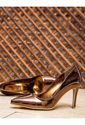 Mecrea Leila Bakır Ayna Dekolte Stiletto