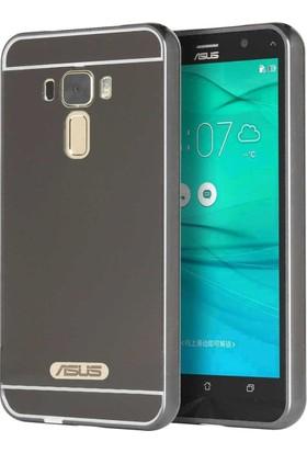 Case 4U Asus Zenfone 3 Laser ZC551KL Aynalı Metal Kapak Kılıf Siyah