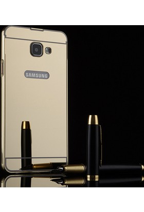 Case 4U Samsung Galaxy A7 2017 Aynalı Metal Kapak Kılıf Altın