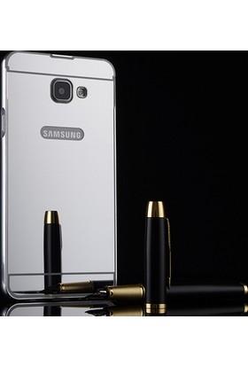 Case 4U Samsung Galaxy A7 2017 Aynalı Metal Kapak Kılıf Gümüş