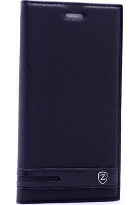 Case 4U Lenovo Moto G4 Plus Gizli Mıknatıslı Kapaklı Kılıf Siyah