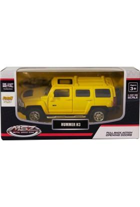 Msz Hummer H3 Diecast Metal Araba 1:38 Scale Sarı