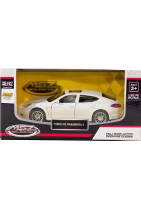 Msz Porsche Panamera S Metal Araba Diecast 1:38 Scale Beyaz