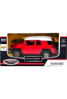Msz Toyota Fj Cruiser Metal Araba Diecast 1:38 Scale Kırmızı