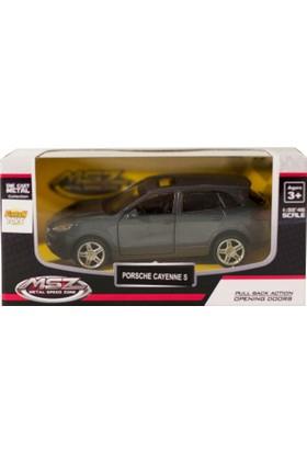 Msz Porsche Cayenne S Metal Araba Diecast 1:38 Scale Füme