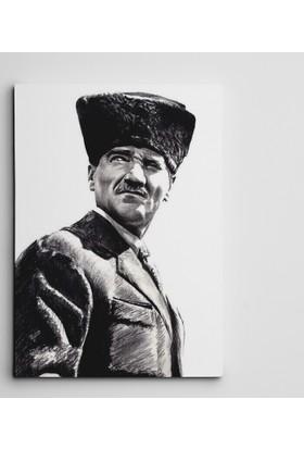 Dekolata Atatürk Bakışlar Kanvas Tablo