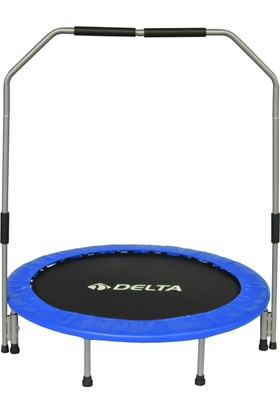 Delta Tutamaçlı 115 cm Deluxe Mavi Trampolin (45 inç Tutunmalı Trambolin)