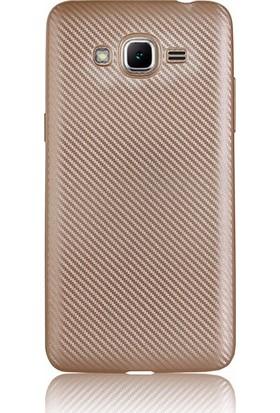 CoverZone Samsung Galaxy J2 Prime Kılıf Karbon Silikon
