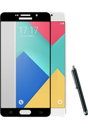 CoverZone Samsung Galaxy A5 2017 Full Kaplayan 3d Tempered Koruyucu + Dokunmatik Kalem