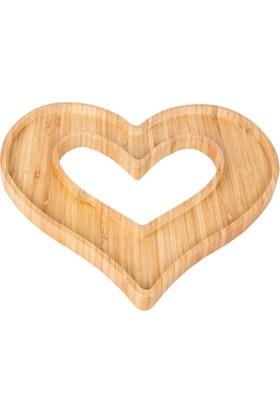 Loveq Bambu Kalp Çerezlik 30X30X2 Cm Drn-29490