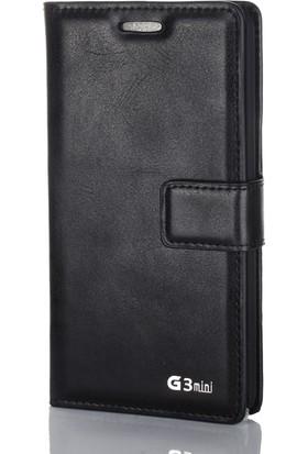 Gpack LG G3 Mini Kılıf Standlı Serenity Cüzdan