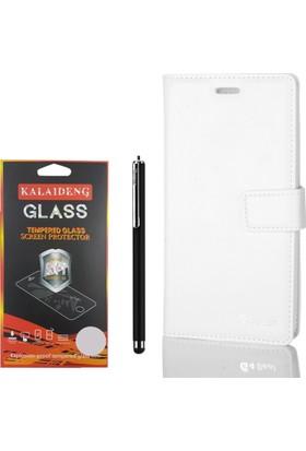Gpack LG G4 Beat (Mini) Kılıf Standlı Serenity Cüzdan +Kalem +Cam