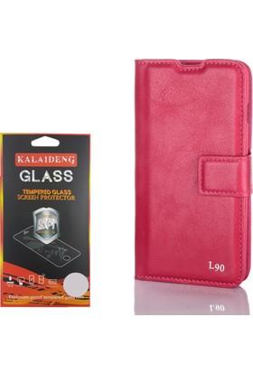 Gpack LG L90 Kılıf Standlı Serenity Cüzdan +Cam