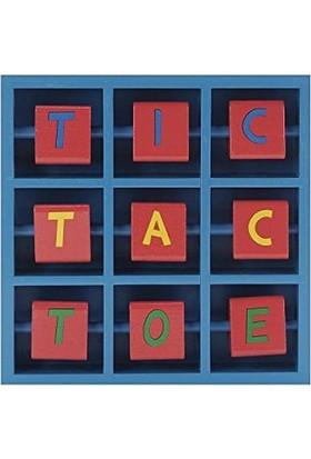 Pavilion Wooden Flip Tic Tac Toe Game - Car ( Ahşap Çevirmeli 3 Taş Oyunu )