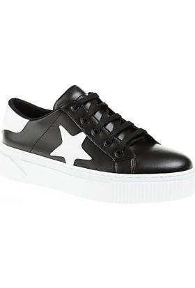 Derigo Kadın Siyah - Beyaz Ayakkabı