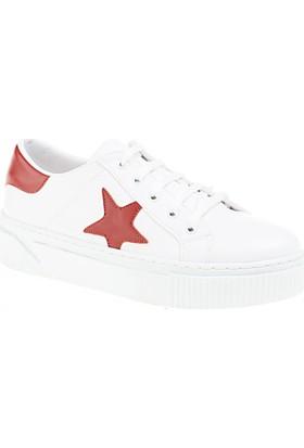 Derigo Kadın Beyaz - Kırmızı Ayakkabı