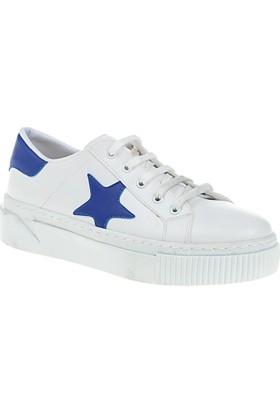 Derigo Kadın Beyaz - Saks Ayakkabı