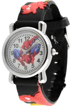 Spiderman Örümcek Adam Spıderman Kuvars Çocuk Saati Siyah