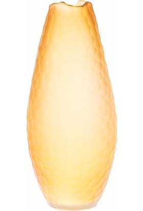 Biev Dekoratif Oval Vazo-Amber 19,5X43,5Cm