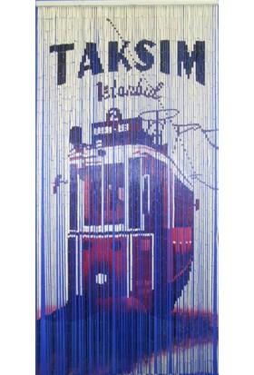 Evistro Bambu Kapı Perdesi Sineklik Taksim Baskılı