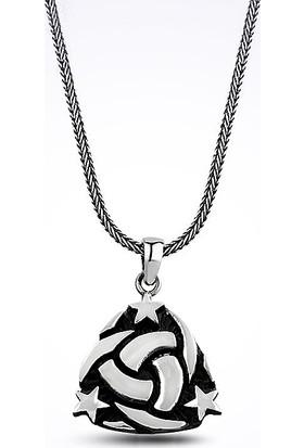 Mina Silver Osmanlı Devleti Mit Simgesi Teşkilat-I Mahsusa Taşsız Erkek Gümüş Kolye