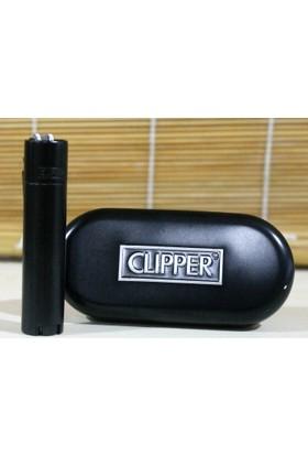 Clipper Metal Çakmak Siyah Mat