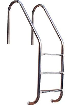 Standart 3 Basamaklı 304 Model Paslanmaz Çelik Basamaklı Havuz Merdiveni