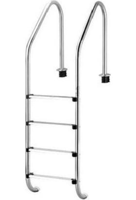 Standart 4 Basamaklı 304 Model Paslanmaz Çelik Basamaklı Havuz Merdiveni