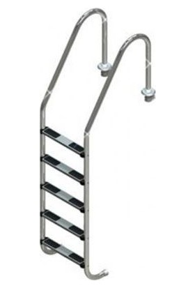 Standart 5 Basamaklı 304 Model Paslanmaz Çelik Basamaklı Havuz Merdiveni