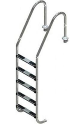 Standart 5 Basamaklı 316 Model Paslanmaz Çelik Basamaklı Havuz Merdiveni