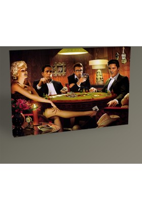 Tablo 360 Celebrities Play Poker Tablo 30 x 20 cm