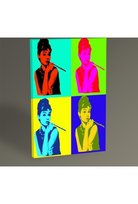 Tablo 360 Audrey Hepburn Pop Art Tablo 30 x 20 cm