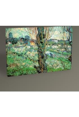 Tablo 360 Vincent Van Gogh-Blick Auf Aries 1889 Tablo 30 x 20 cm