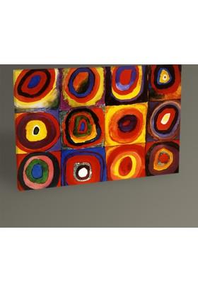 Tablo 360 Wassily Kandinsky Karelerle Renk Etüdü Tablo 30 x 20 cm