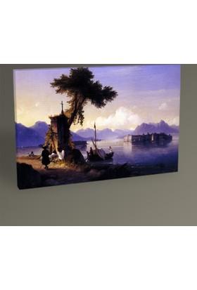 Tablo 360 İvan Ayvazovski Maggiore Gölü Tablo 30 x 20 cm
