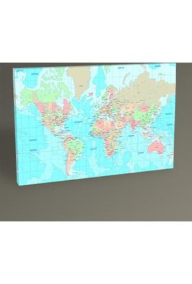 Tablo 360 Dünya Haritası Tablo 30 x 20 cm