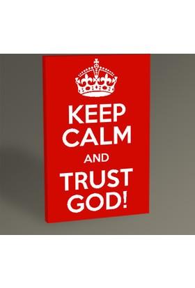 Tablo 360 Keep Calm And Trust God 30 x 20 cm