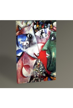 Tablo 360 Marc Chagall I And The Village 30 x 20 cm
