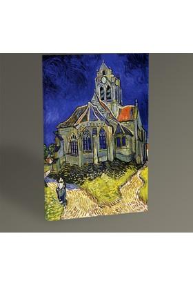 Tablo 360 Vincent Van Gogh-The Church At Auvers 30 x 20 cm