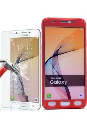 KılıfShop Samsung Galaxy J5 Prime 360° Tam Koruma Kılıf + Ekran Koruyucu