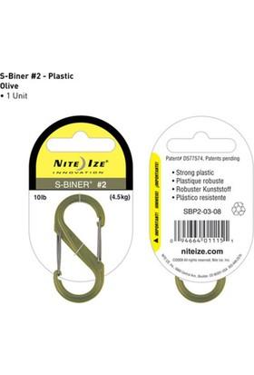 Nite-İze S-Bıner Plastık Sıze 2 Olıve