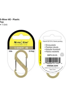 Nite-İze S-Bıner Plastık Sıze 2 Tan