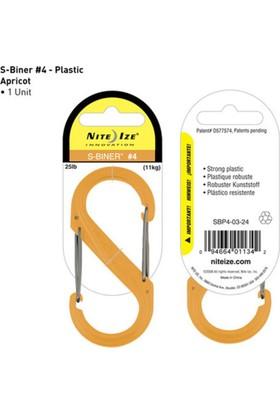 Nite-İze S-Bıner Plastık Sıze 4 Aprıcot