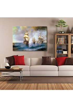 Tablom Denizde Gemiler Kanvas Tablo