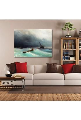 Tablom Denizde Fırtına Kanvas Tablo