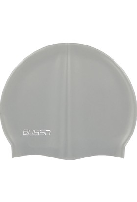 Busso Silicone Swimming Cap - Silikon Yüzücü Bonesi GRİ