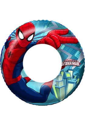 Marvel Ultimate Spiderman Swim Ring - Bestway 98003 Örümcek Adam Şişme Can Simidi 56 cm