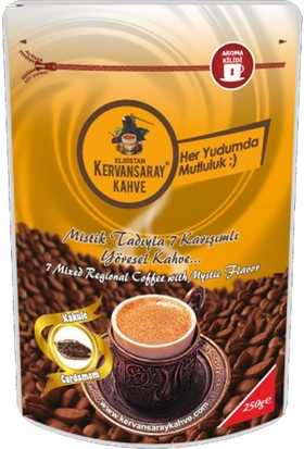 Kervansaray Elbistan Kervansaray 7 Karışımlı Yöresel Kahve Kakuleli Kahve 250 Gr x 1 Adet