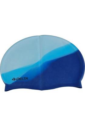 Delta Silicone Swimming Cap - Gökkuşağı Silikon Yüzücü Bonesi